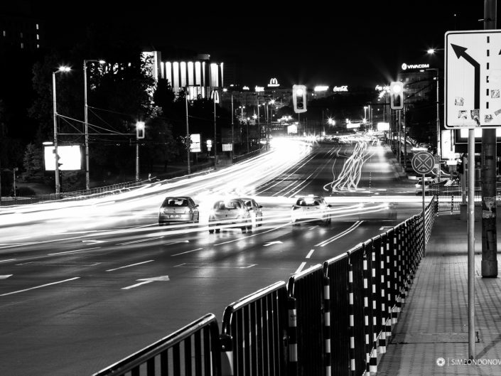 Нощна София, Бул. Черни връх. Градска фотография