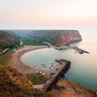 Залив Болата по изгрев, Черно море