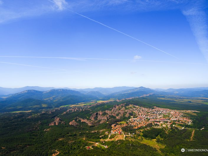 Изглед към Белоградчик и скалите