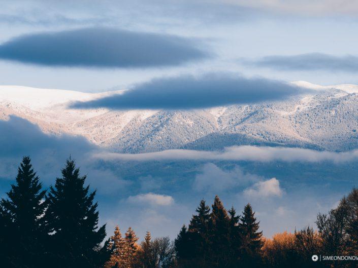Изглед към Национален парк Рила по изгрев