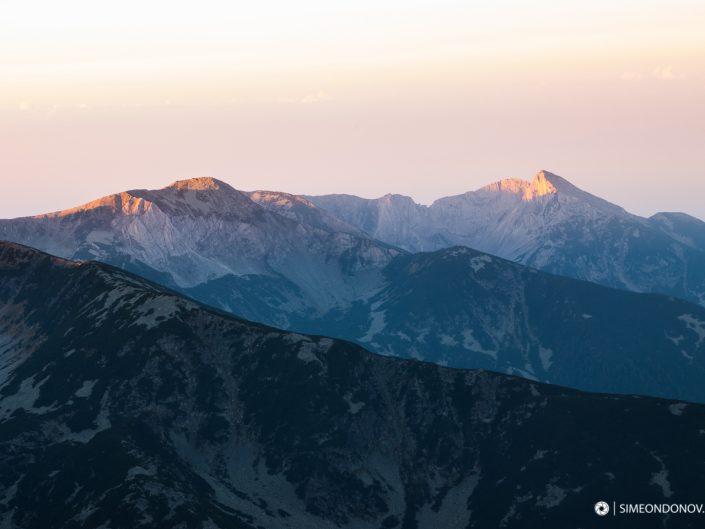 Изглед към Синаница по изгрев, Национален парк Пирин