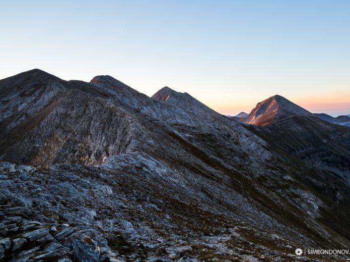 Карстовото било по изгрев - Котешки чал, връх Бански суходол, Кончето, Кутело и Вихрен в Национален парк Пирин