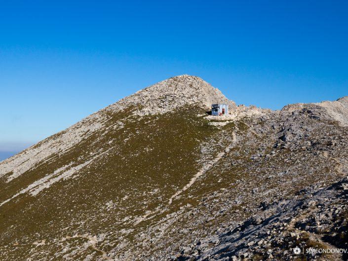 Изглед към заслон Кончето - 2760 м надморска височина, Национален парк Пирин