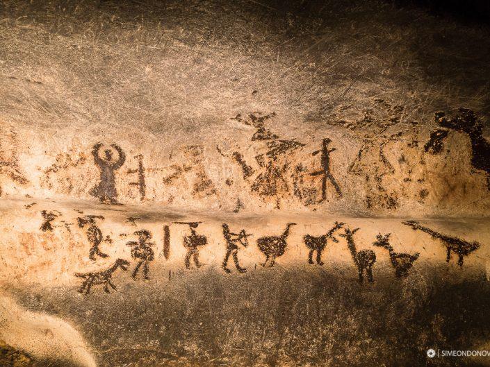 Праисторически рисунки, пещера Магурата. Забележителности България. Български забележителности.