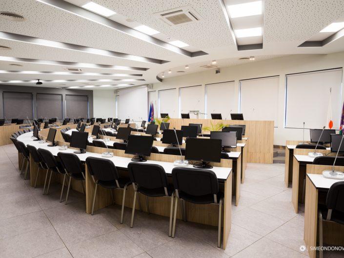 Интериорна фотография за конгресен център Глобус - сградата на КНСБ