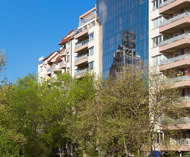 Жилищна и офис сграда, архитектурно бюро РУМИНА – АМ ЕООД. Архитектурна фотография - София