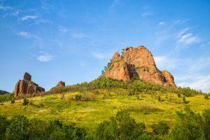 Beautiful rocks in the Balkan Mountains named Pine stone (Borov kamuk), Bulgaria.