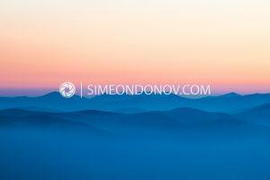 Рила по изгрев - поглед от Пирин