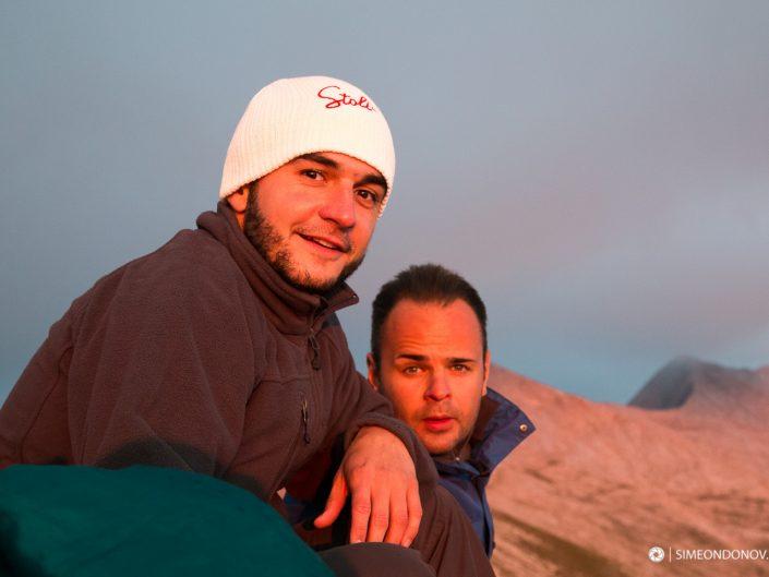Малко преди залез над заслон Кончето, Национален парк Пирин