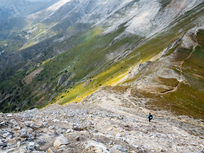 Изглед към Премката от склона на връх Вихрен, Национален парк Пирин